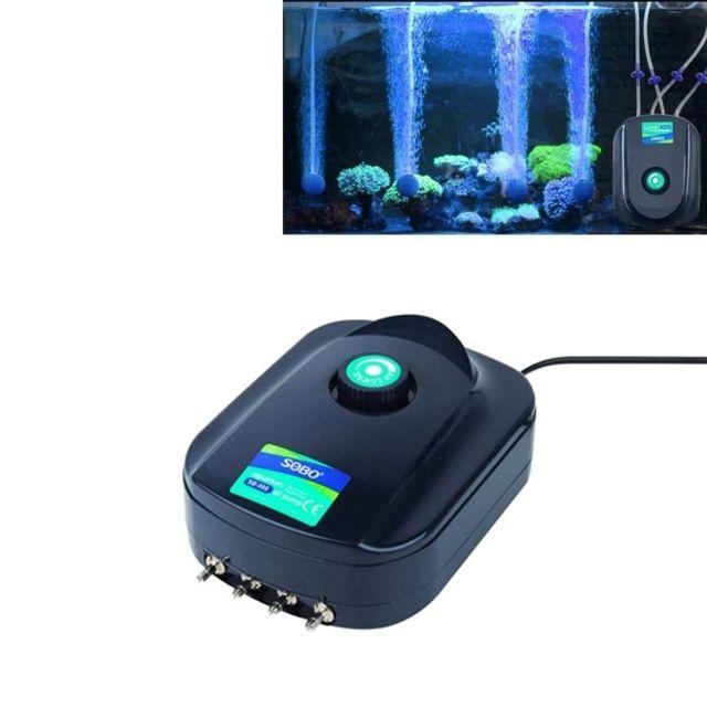 Wewoo Pompe aquarium 12W 4 Sorties Réglable Débit Silencieux À Air Poisson Réservoir Oxygène