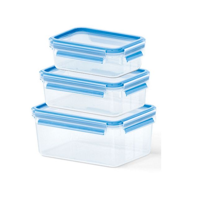 plus récent dd2ea 12ddb lot de 3 boîtes alimentaires plastique 0.55l, 1l et 2,3l - 508566