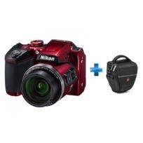 NIKON - appareil photo bridge rouge - b500 + Holster - Manfrotto Advanced