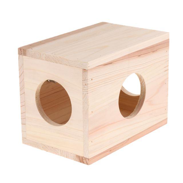 Maison en bois de hamster pour animaux de compagnie