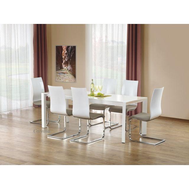 Carellia Table à manger extensible 130÷210 cm x 80 cm x 76 cm