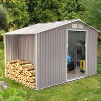 Grand CONCEPT USINE   Ventoux 8.72 M² : Abri De Jardin Avec Abri Bûches En Metal  Anti Inspirations De Conception