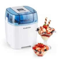 KLARSTEIN - Creamberry Machine à glace Bac isotherme yaourt glacé 1,5l - blanche
