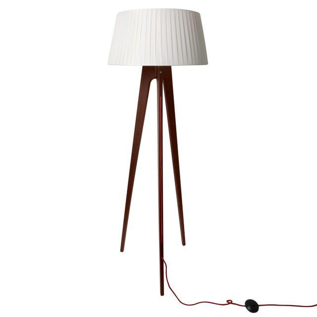 rendez vous deco lampadaire tr pied freya bois fonc. Black Bedroom Furniture Sets. Home Design Ideas