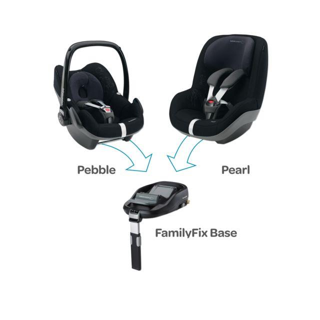Bébé Confort EMBASE FAMILY FIX GROUPE 0+ POUR PEBBLE ET PEARL 2010 Système Isofix semi-universelle avec jambe de force, sûr, simple et rapide...
