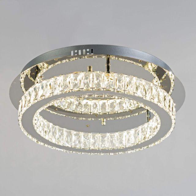 45 Cm Plafonnier Wdiy9he2 Cercle Ø Cristal Led Design Lustre Diez w8nkO0P