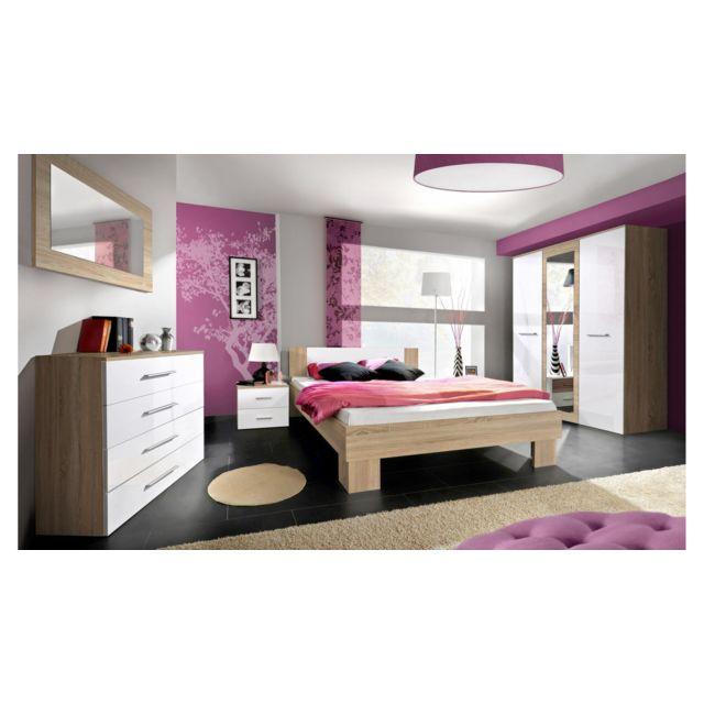 Vicka Ii 180 Meubles chambre a coucher Blanc