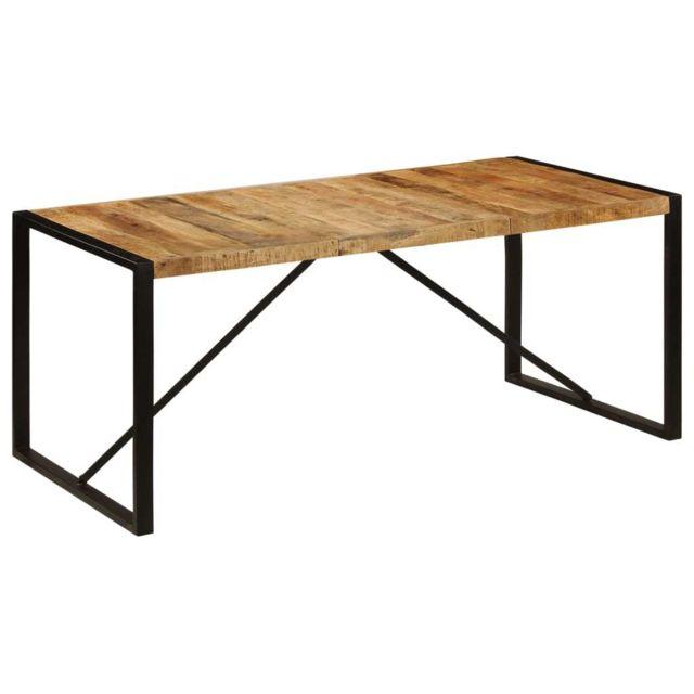 Superbe Tables serie Libreville Table de salle à manger 180x90x75 cm Bois de manguier solide