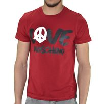 Moschino - Love - T Shirt Manches Courtes - Homme - Painted Logo - Bordeaux