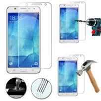 Vcomp - 1 Film Vitre Verre Trempé de protection d'écran pour Samsung Galaxy J7 Sm-j700F J700H - Transparent