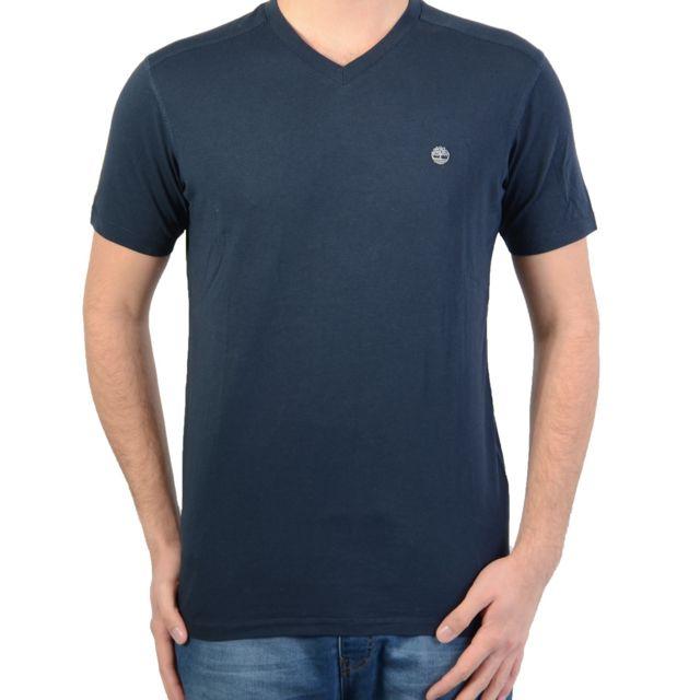 TIMBERLAND T shirt 7951 J Dunstan Rvs V Nec Bleu 433