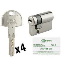 Bricorama - Demi Cylindre de porte 10 x 30 mm 4 clés avec carte de reproduction sécurité