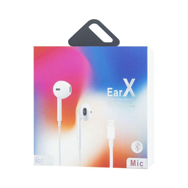 Appbot Link EarX écouteur Binaural avec Fil Blanc Casque et
