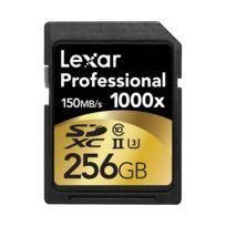 Lexar - Carte Sdxc 256 Go 1000X Professional 150 Mo/s Classe 10 Uhs-ii U3