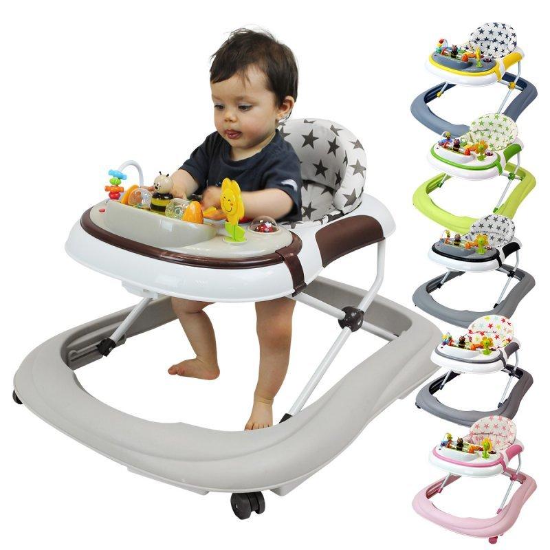 Trotteur bébé évolutif musical pliable réglable en hauteur