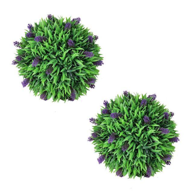 Vidaxl 2 boules de lavande artificielle 36 cm | Vert