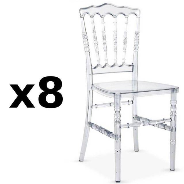 Inside 75 Lot de 8 chaises design Marie Louise en
