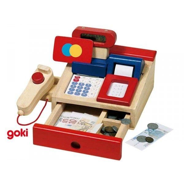 goki caisse pour picerie en bois avec calculette pas cher achat vente jeux ducatifs. Black Bedroom Furniture Sets. Home Design Ideas