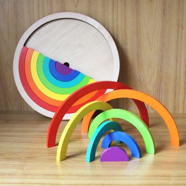 Wewoo Creative Rainbow Assembled Building Blocks Enfants Jouets éducatifs