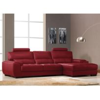 Canape Angle Cuir Rouge Canape Angle Design Mendini Anthracite