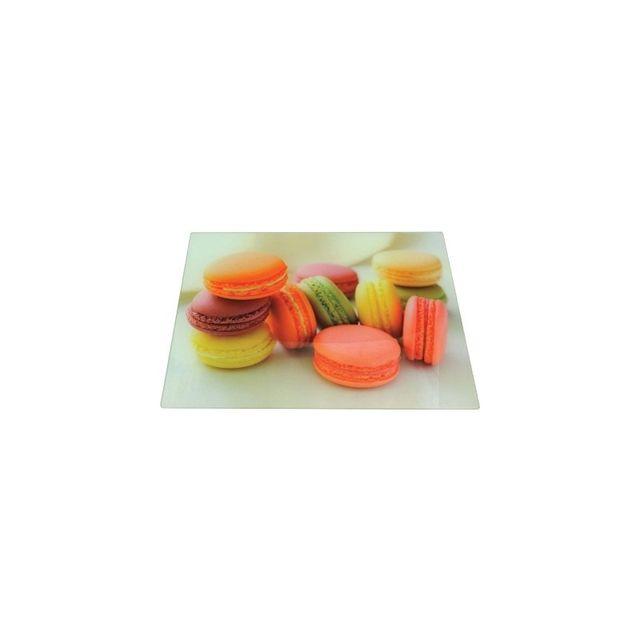 Selection Brico-travo Planche à découper verre trempé vg 40 x 30 macarons
