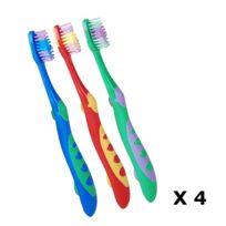 Urban Living - Lot de 12 Brosses à dents pour enfant - Poils souples