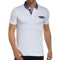 BLZ Jeans - Polo blanc et rayé manches courtes
