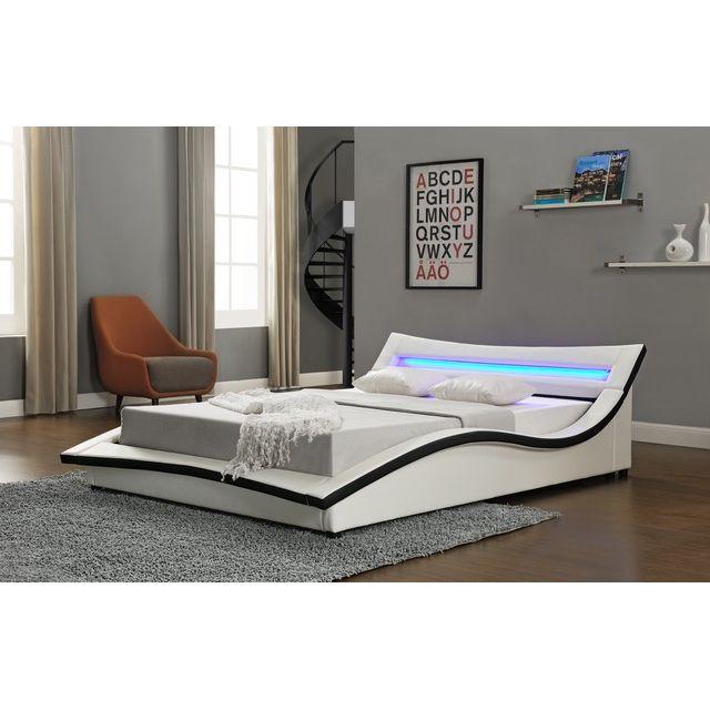 design et prix magnifique lit venizia 160x200 cm cadre. Black Bedroom Furniture Sets. Home Design Ideas