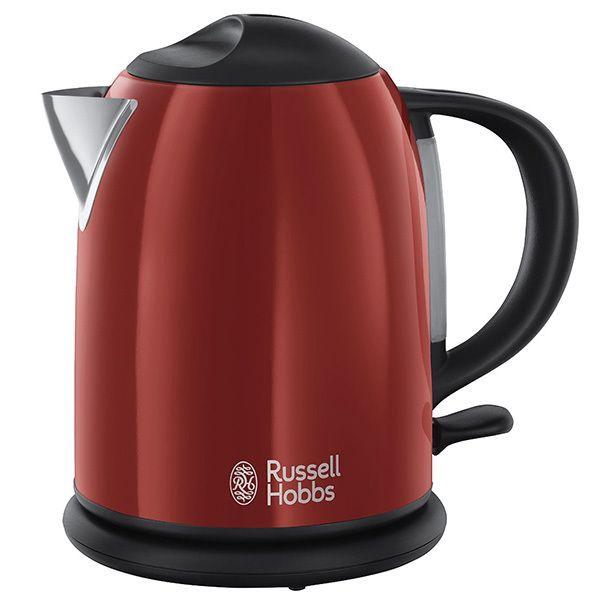 RUSSELL HOBBS bouilloire sans fil compact 1l 2200w rouge - 20191-70
