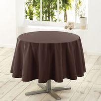 Douceur D'INTERIEUR - Nappe de table ronde Ø180cm essentiel brun antitache