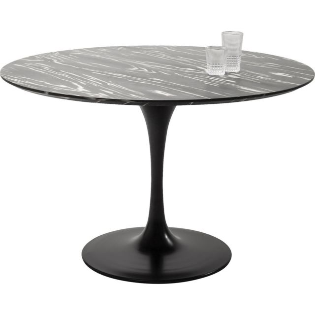 Karedesign Table Invitation ébène & noire 120cm Kare Design