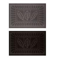 Bonareva - Tapis d'entrée antidérapant - 45 x 75 cm - Feuilles noir