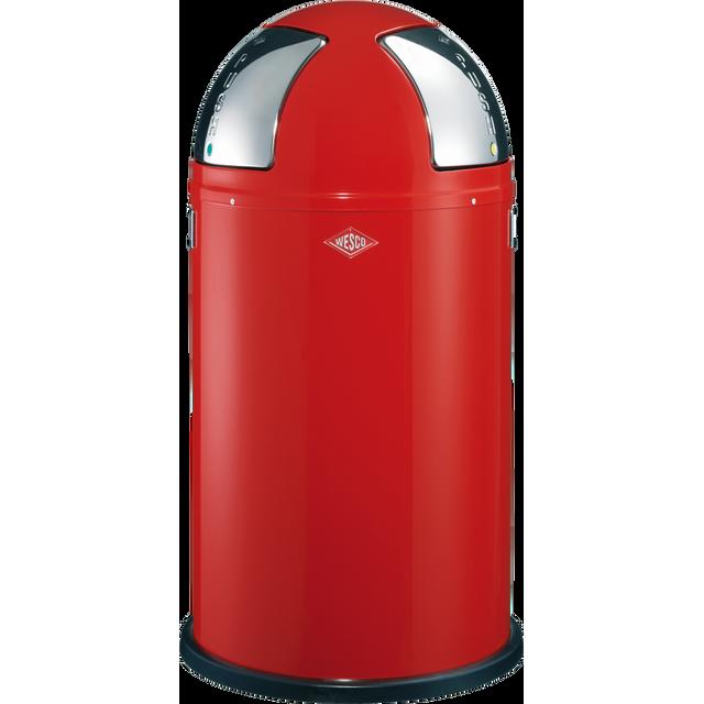 wesco poubelle pushtwo 50l rouge pas cher achat vente poubelle de cuisine rueducommerce. Black Bedroom Furniture Sets. Home Design Ideas