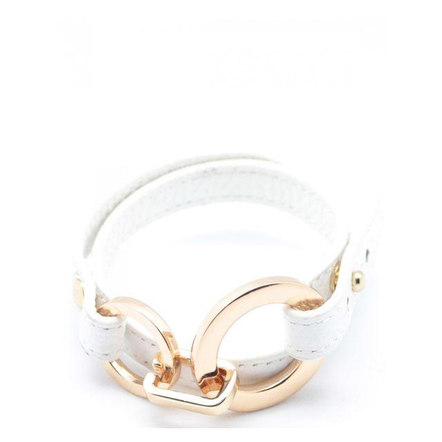 Histoire D'ACCESSOIRES Br094929U-Rose - Bracelet Cuir Femme - histoireDaccessoires