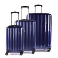 Alpini - Lot de 3 valises rigide 4 roues Selecta S bleu Metzelder