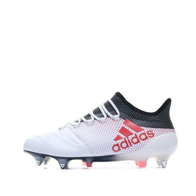 Adidas X 17.1 Sg Cuir Chaussures Football Blanc Homme