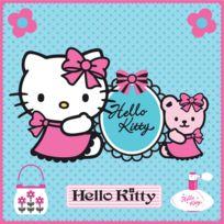 Graham & Brown - Toile imprimée décorative Hello Kitty 30x30cm Girly