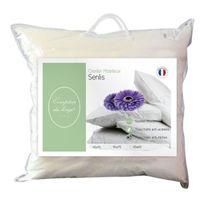 Comptoir du linge - Cdloqaa65 Oreiller Senlis Garnissage Polyester Blanc 65 X 65 X 10 Cm - Cdloqaa65
