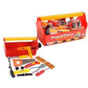 touslescadeaux boite outils enfant 17 accessoires bricolage enfant pas cher achat. Black Bedroom Furniture Sets. Home Design Ideas