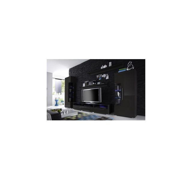 8dbf3bacbe11b Chloe Decoration - Meuble tv design mural Noa - noir - pas cher ...