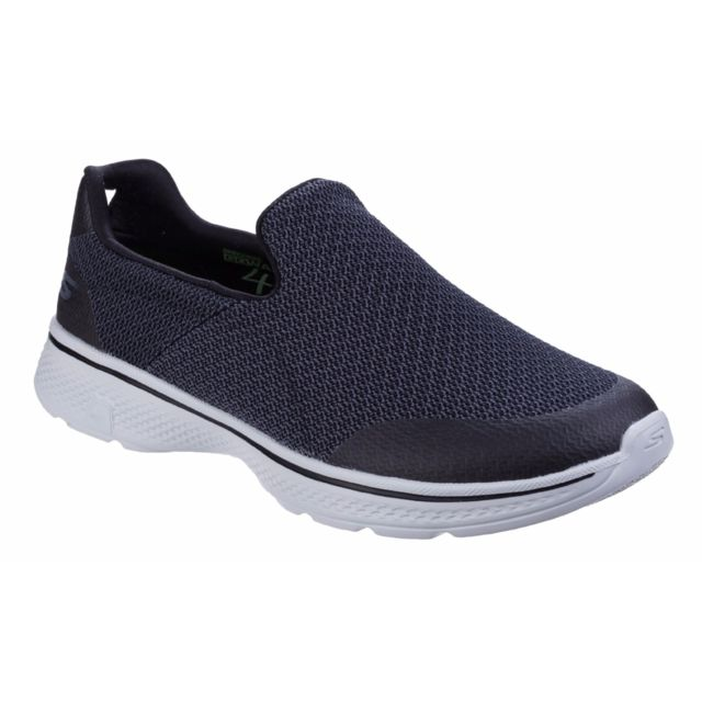 Go Walk 4 Expert Chaussures sans lacets Homme 42,5 Eu, NoirGris Utfs4250