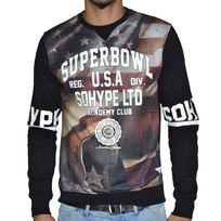Sohype - So Hype - Sweat Shirt - Homme - Superbowl - Noir