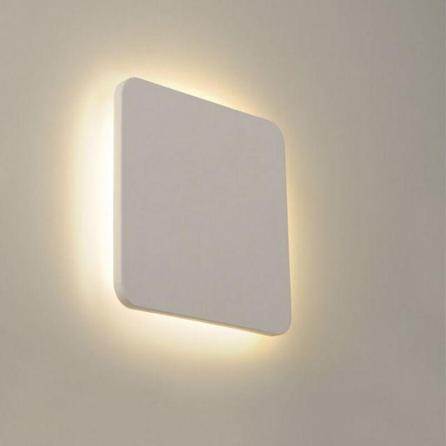 Slv Applique plâtre Plastra Square Led H30 cm - Blanc