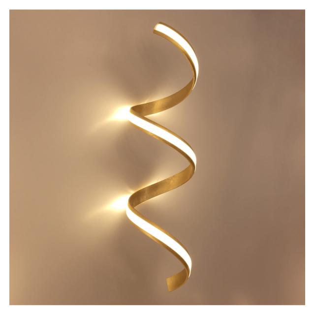 Kosilum Grande applique - plafonnier spiralée en feuille d'or - Millenium