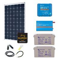 Myshop-solaire - Kit solaire 300w premium autonome + convertisseur 230v/800va