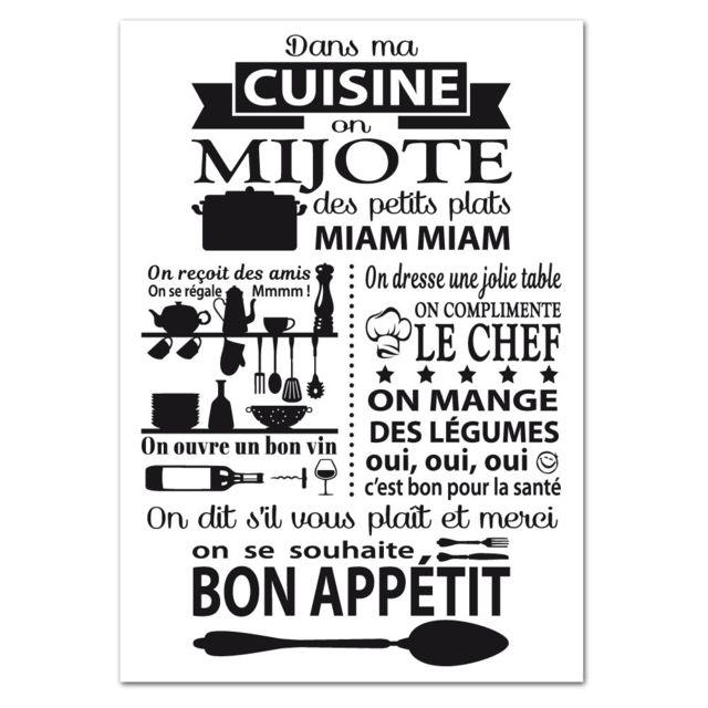 Adzif Biz Poster Dans Ma Cuisine Dimensions 21 X 30 Cm