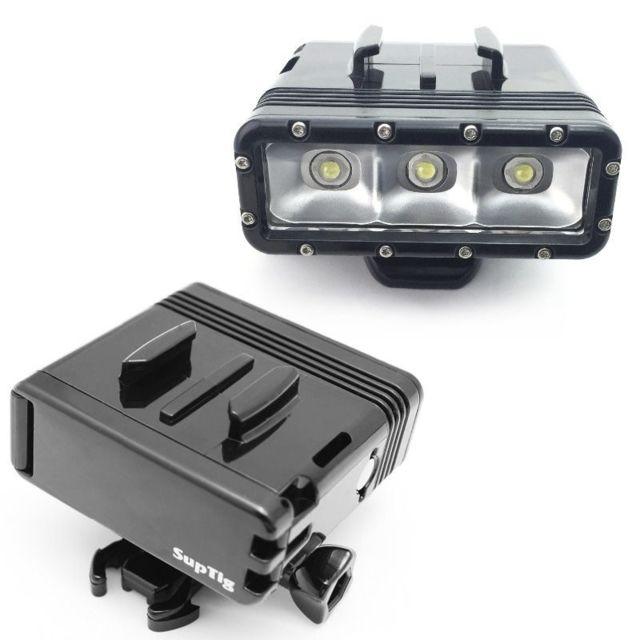 Lampe 2x Sous Torche Boucle Gopro Led De Marine Batteries Plongée Caméra Support Etanche CQsdthr