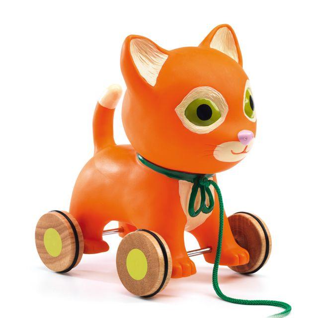 Djeco Jouet à tirer : Mila le chat