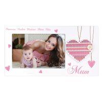 Zep - Cadre photo maman Horizontal Blanc/Rose 10 x 15 cm