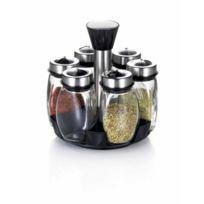 TABLE&COOK - porte épices 6 pots avec tourniquet - 52467